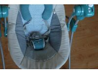 Babymoov Stylish Baby Swing In Swoon Bubble Petrol Design With Melodies
