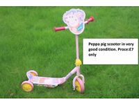 Kids peppa pig scooter