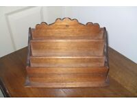 BEAUTIFUL SOLID WOOD LETTER RACK
