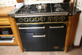 Falcon 90cm Dual Fuel Range Cooker Black with Brass trim (New ex Display)