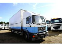 2001 MAN 18 224 4X2 BOX TRUCK FOR SALE IN LONDON UK MAN TIPPER SCANIA TIPPER DAF TIPEPR BOX 6X4 8X4