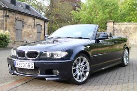 BMW 330cd M SPORT DIESEL CONVERTIBLE CABRIOLET E46 LEATHER ALLOYS 330 87k *RARE 6 SPD* *MOT 23/11*