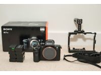Sony A7s II + Small Rig Cage + 8 batteries and 2 chargers. Recently serviced