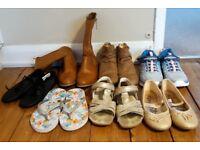 Bundle of girl shoes size 1-2