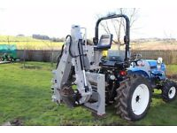 Jansen BHSM-175 Tractor 3 point linkage mounted PTO driven backhoe digger complete with trailer