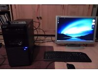 """Acer Veriton m221 PC desktop tower with 22"""" monitor"""