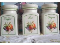 JOHNSON BROTHERS FRESH FRUIT CANISTER SET