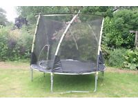 Free Plum 10ft trampoline. Needs taking down and cleaning up.