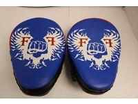 Furiousfistsuk Genuine Leather Focus Pads Blue/Black Color