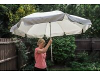 Ikea cream parasol 100% cotton 86inches diameter only half a pole