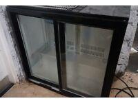 2 door bar slide door fridge/under counter fridge
