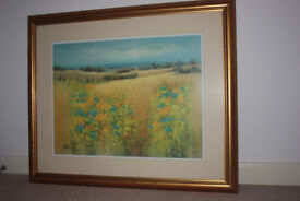 G Spence framed landscape large signed print