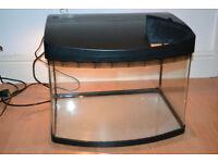 Aquarium Fish Tank Pod 64 L Curved Glass Panoramic