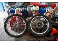 ktm 200 exc complete wheels and tyres 2005 ktm 125 200 250 300