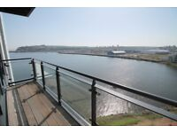 Two bedroom apartment with WATER VIEW and Balcony - Cardiff Bay