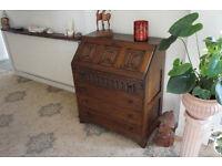 Compact Solid Oak bureau/Writing Desk
