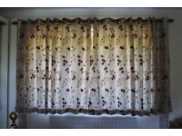 *** LOVELY SATIN COLOUR FULLY LINED EYELET CURTAINS ***