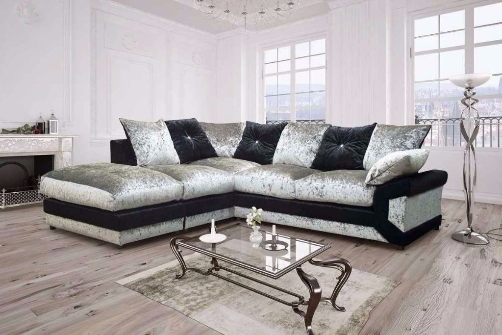 SAME DAY DELIVERY CRUSH VELVET FABRIC 3 AND 2 SEATER CORDED SOFA SUITE, ALSO CORNER SET AVAILABLE