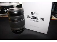 Canon EFS IS 18-200mm F/3.5-5.6 IS EF-S Lens