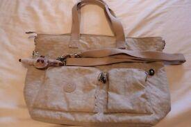 Large Grey Kipling Bag with Cross Body Strap. VGC.