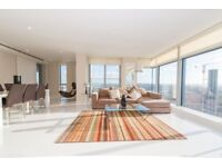 FURNISHED PENTHOUSE 3 BEDS 3BATHS AT THE HEART OF CANARY WHARF WITH GYM POOL 24/7 CONCIERGE E14 MB