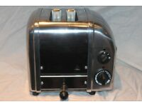Boxed Dualit 2-slot Vario/Classic toaster in polished stainless steel/solid aluminium. Used once