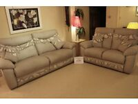 Modern 3 seater + 2 seater settees