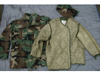 Genuine - Woodland Camo - US Army Air Force M65 Field Jacket + Quilted Liner