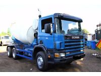 2002 SCANIA 94C 300 6X4 CONCRETE MIXER TRUCK CEMENT MIXER TRUCK FOR SALE DAF MIXER VOLVO MIXER