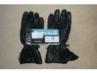 Buffalo Black Motorcycle Gloves size Medium