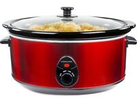 Andrew James Large Slow Cooker (Red)