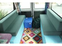 Campervan Bed / Seat Cushions. 2 Bench seats that make up into a double bed.Great Quality,Zip Covers