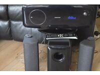 SAMSUNG CD/USB/RADIO/DVD AUX IN PLAYER WITH REMOTE/CAN SEE WORKING