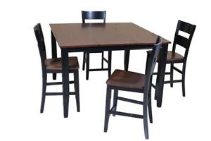 Blairmore Five Piece Dining Set Counter Height In Cherry And Black