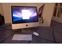 """Apple iMac 20"""" widescreen. Model A1224 with wireless keyboard & mouse"""