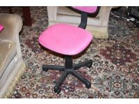 Pink Swivel Chairs ( Pump Up Type) 2 of them