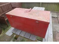 large metal strong box see pics