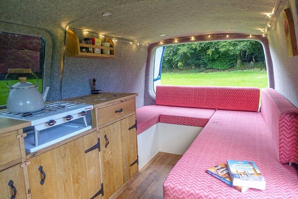 VW T5 Transporter Campervan LWB - Brand New Conversion, Rustic oak kitchen, Beautiful home on wheels