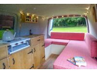 VW T5 Transporter Campervan LWB - Brand New Conversion, Rustic oak kitchen, Beautiful home on wheels