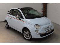 FIAT 500 CONVERTIBLE ** 1400 ** 55K ** 100% HPI CLEAR ** NATIONWIDE WARRANTY ** SERVICE HISTORY **