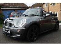 Mini Cooper S Convertible 2006, Beautiful Condition, Grey, Chrono Pack, Only 41000 Miles £4995