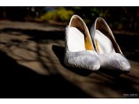 Beautiful ivory lace wedding shoes, Size 4 UK only used once at my wedding