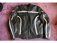 Motorcycle jacket Frank Thomas leather and textile size UK40, EUR50