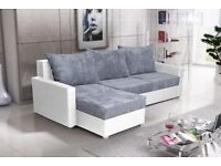 New SETTEE Corner Sofa COUCH Bed storage BONELL SPRINGS UNIVERSAL CHAISE