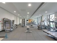 2 bedroom flat in new Kings Cross N1C 2BP, furnished, 2 doubles with en suites, gym, 24hr porter