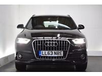 AUDI Q3 2.0 TFSI QUATTRO S LINE [SAT NAV] 5d AUTO 168 BHP (black) 2013
