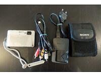 Waterproof Sony Cyber-shot DSC-TX5 + case + 8GB memory card + cables