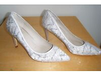 ONLY WORN ONCE - LADIES size 7 stiletto high heel shoes from DEBUT, for DEBENHAMS - REDUCED PRICE