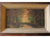 BROMLEY, KENT - Antique Signed Oil-On-Canvas Landscape Victorian Painting