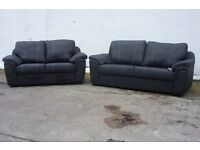 BUY THE SALLY WHITE STITCH PU 3 SEATER £375 GET 2 SEATER FREE BRAND NEW WITH AMAZING PADDED ARMS